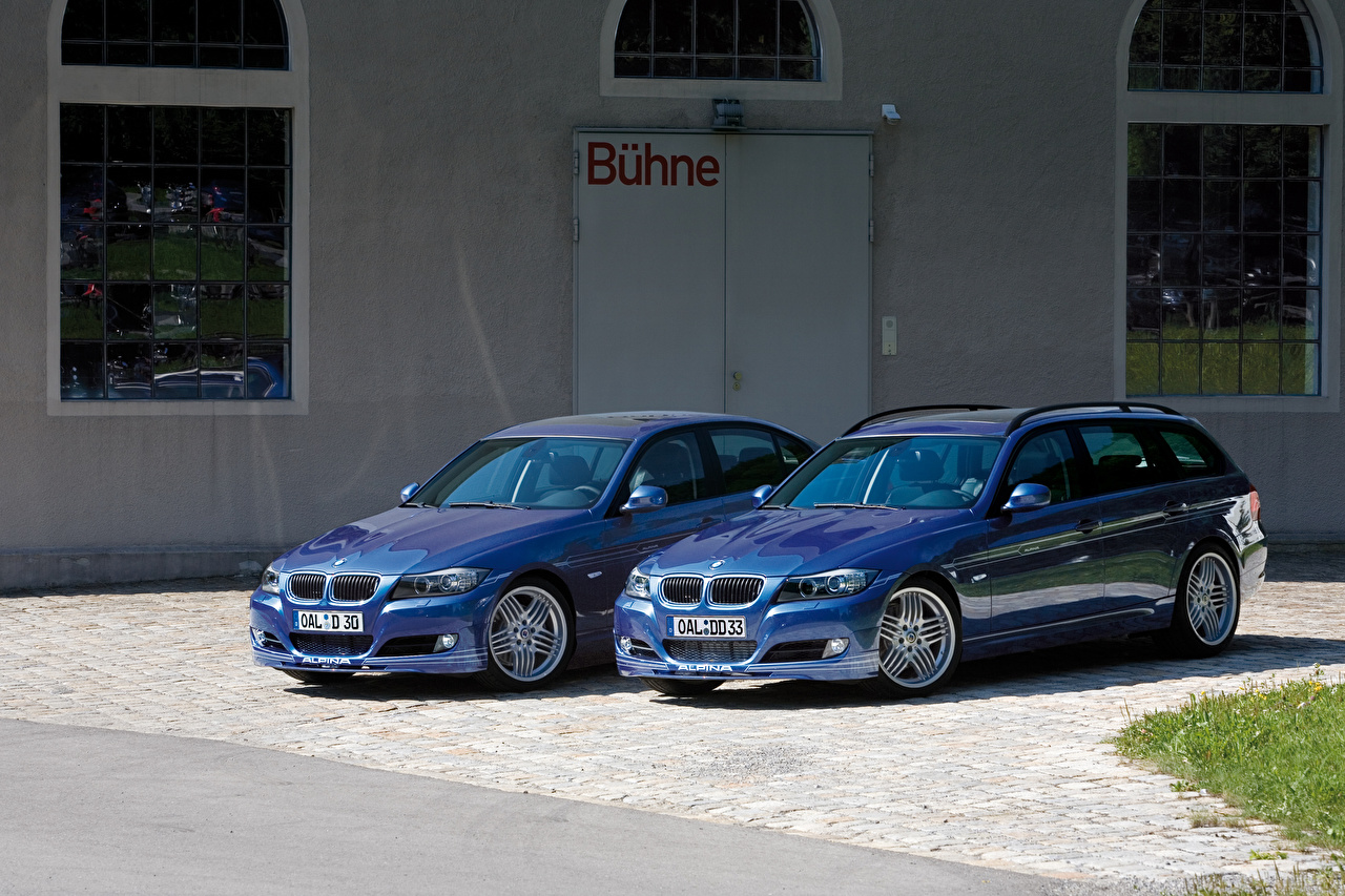 Photos BMW Alpina B3 S Bi-Turbo Cabrio, Alpina B3 S Bi-Turbo Coupe 2 Blue auto Metallic Two Cars automobile