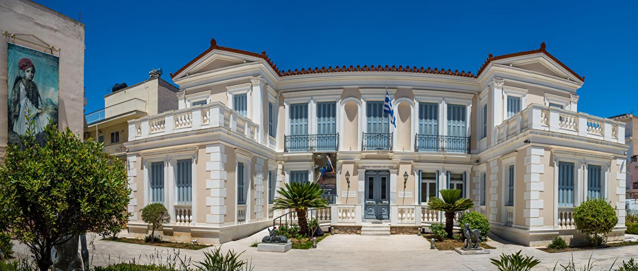 Pictures Greece National Gallery Nafplion Annex Cities Building Landscape design Houses