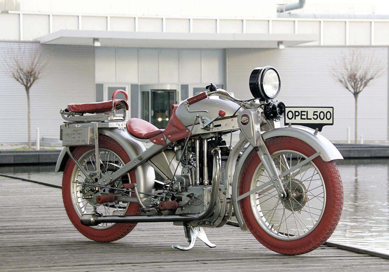 Foto Opel 1928-30 Motoclub SS Retro Motorräder antik Motorrad