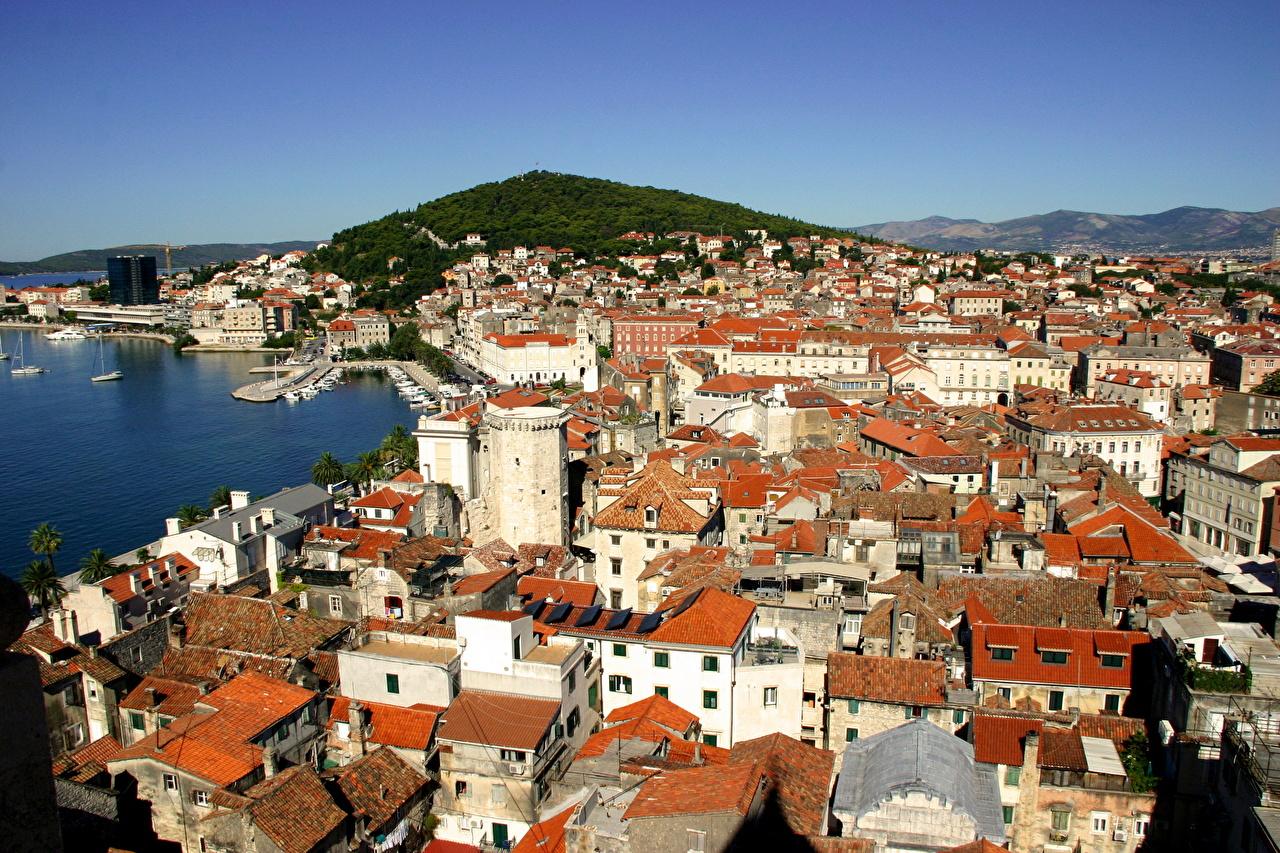 Wallpaper City of Split Croatia Houses Cities Building