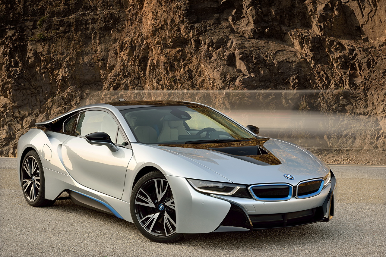 Pictures BMW 2015 i8 Luxury Silver color auto luxurious expensive Cars automobile