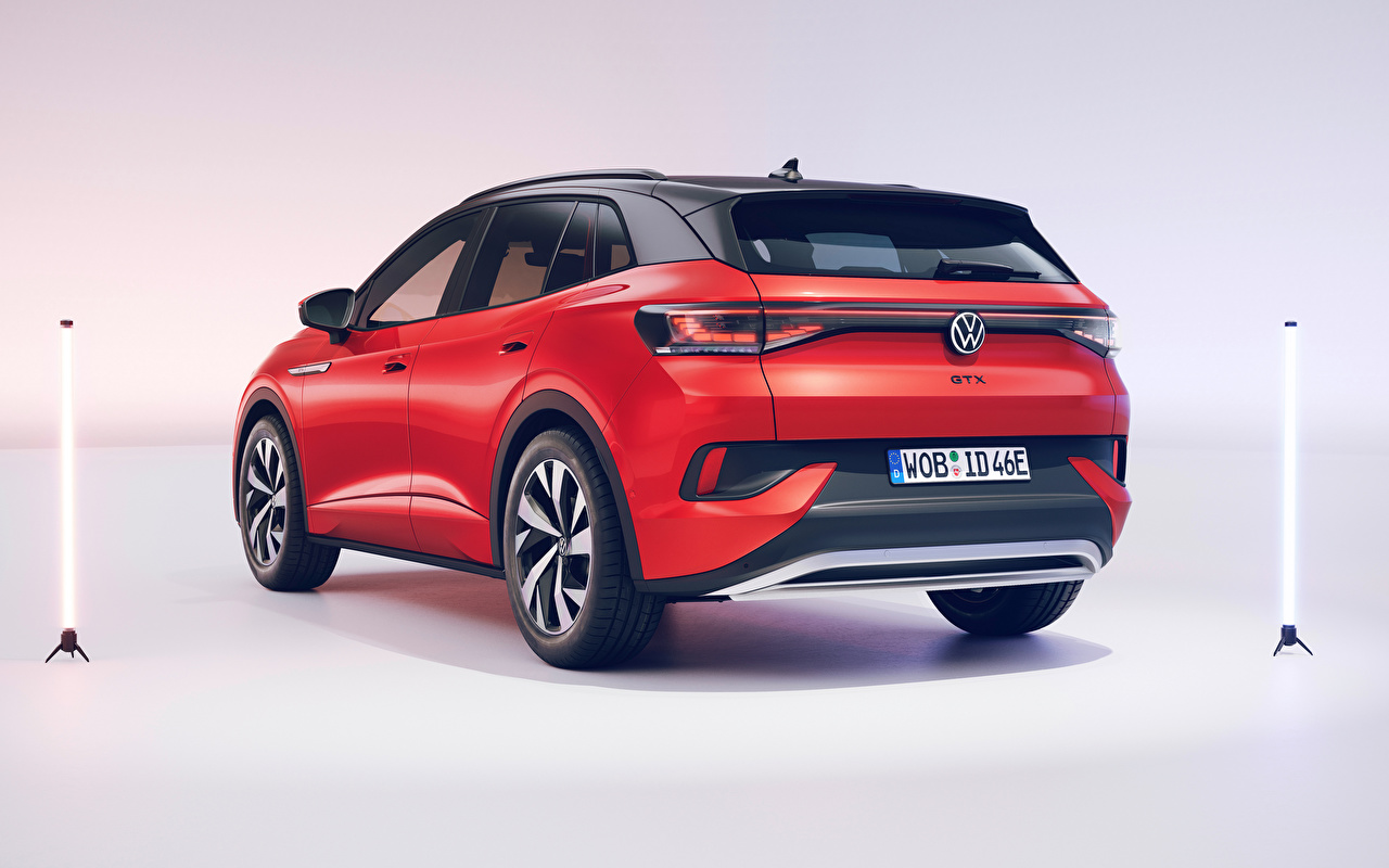 Volkswagen ID.4 GTX (Worldwide), 2021 Crossover Vermelho Metálico carro, automóvel, automóveis Carros