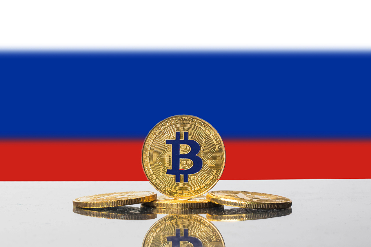 Images Coins Bitcoin Russian Flag Money