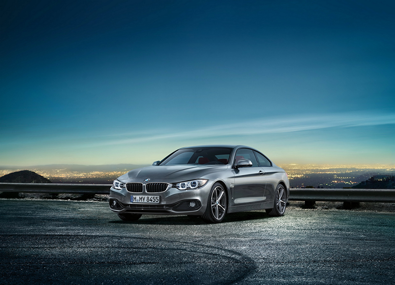 Picture BMW 2014 4-series coupe Grey Sky automobile gray Cars auto