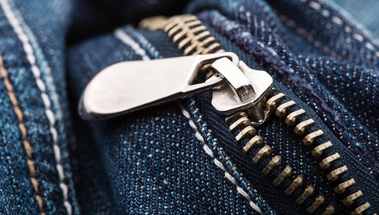 Фото metal zipper Макро Джинсы вблизи джинсов Макросъёмка Крупным планом