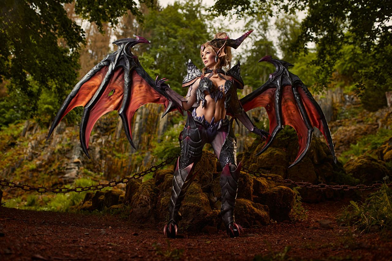 League of Legends Mikhail Davydov photographer Zyra La pose Aile Chaîne Cosplay jeune femme, jeunes femmes, jeu vidéo, LOL, cosplayers, posant Filles Jeux Fantasy