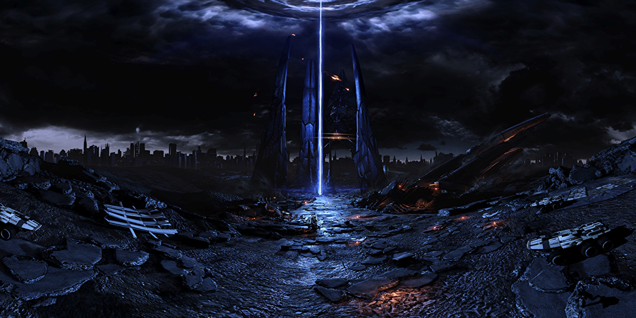 壁紙 マスエフェクト 幻想的な世界 夜 ゲーム 3dグラフィックス ファンタジー ダウンロード 写真