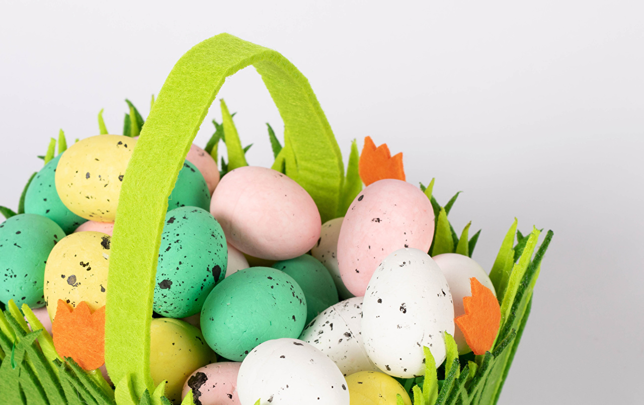 Image Easter Multicolor Eggs Food Gray background egg