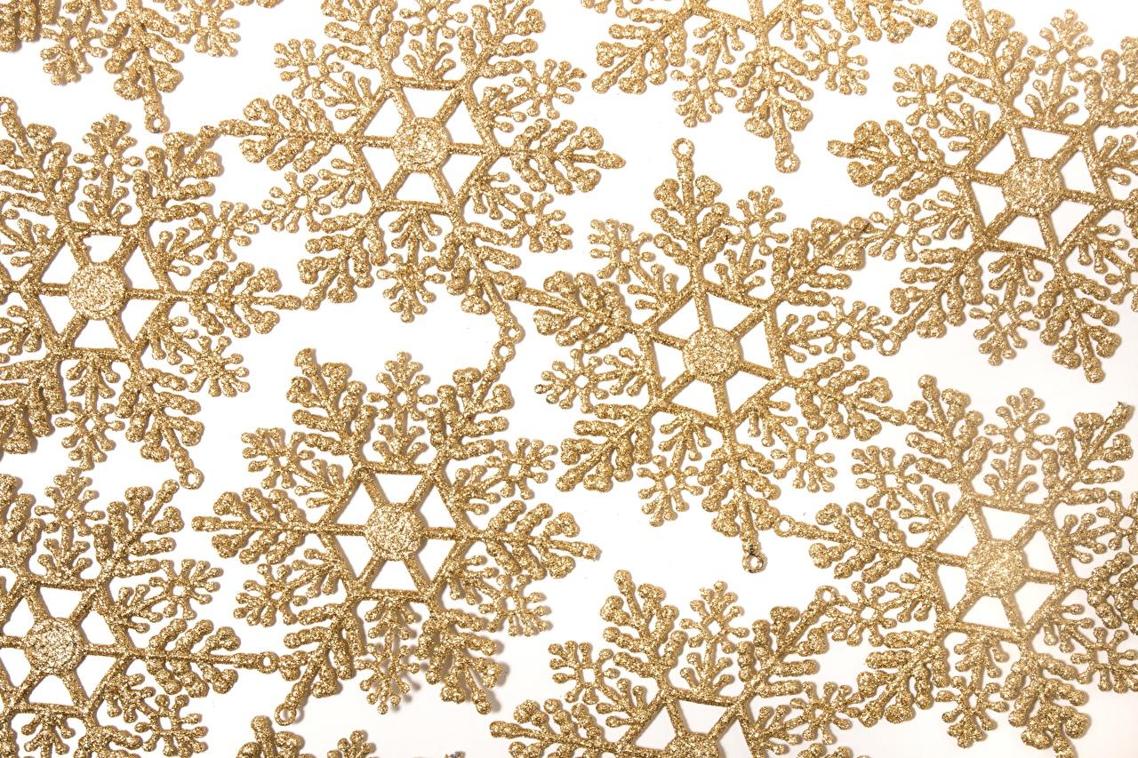 Fotos von Textur Gold Farbe Schneeflocken