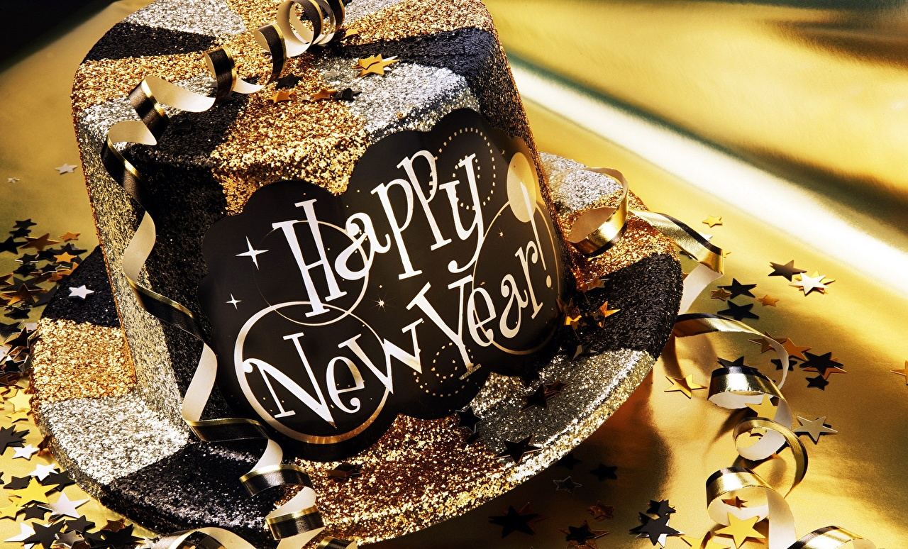 Desktop Wallpapers New year English Hat Closeup Christmas