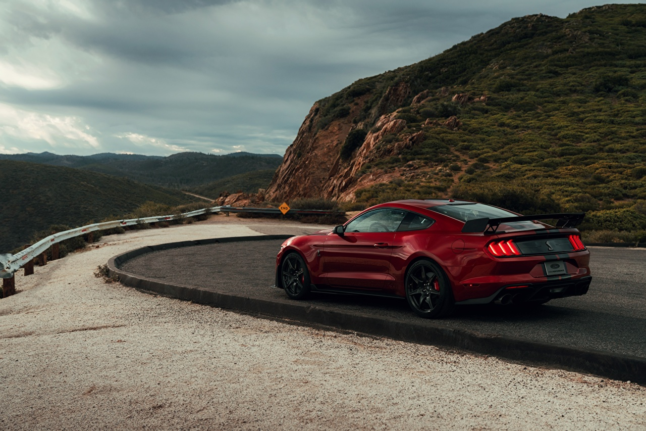 Photos Ford Mustang Shelby GT500 2019 Red Cars auto automobile