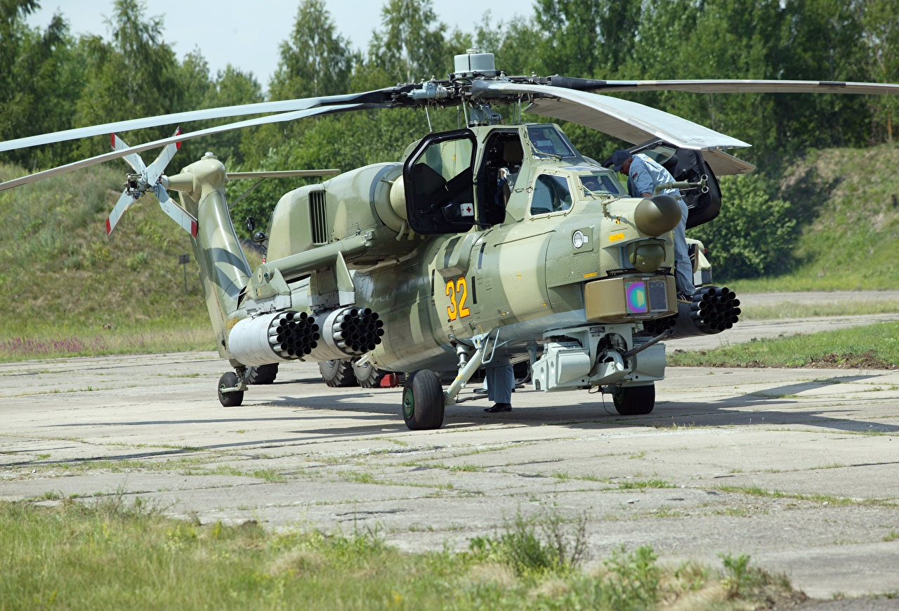 Picture Helicopters Camouflage Russian Mi-28 Night hunter Aviation helicopter military disguise