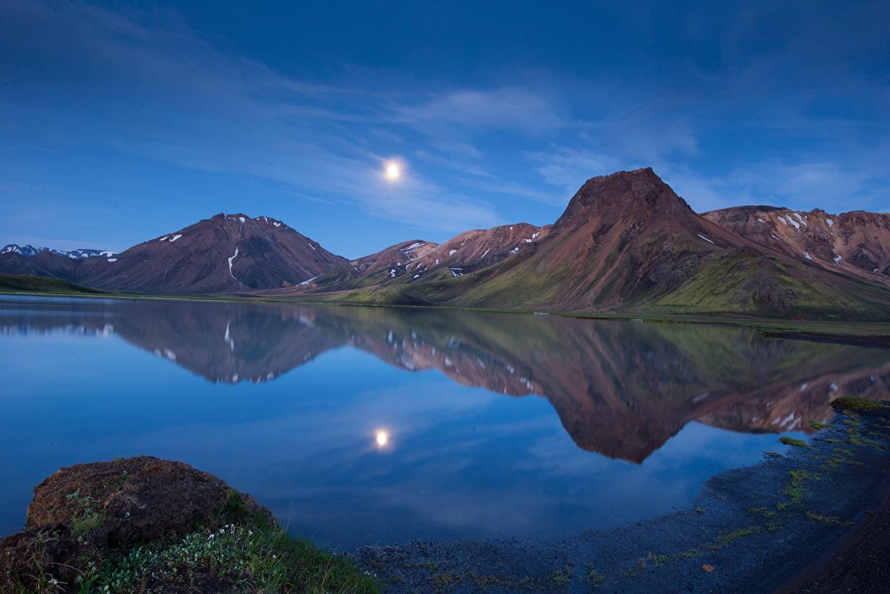 Fonds d'ecran Montagnes Islande Lac Photographie de paysage Nature télécharger photo