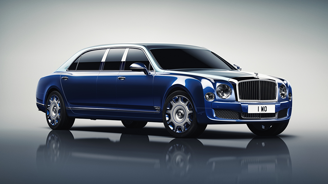 Pictures Bentley 2016 Mulsanne Grand Limousine by Mulliner Blue Cars Metallic auto automobile