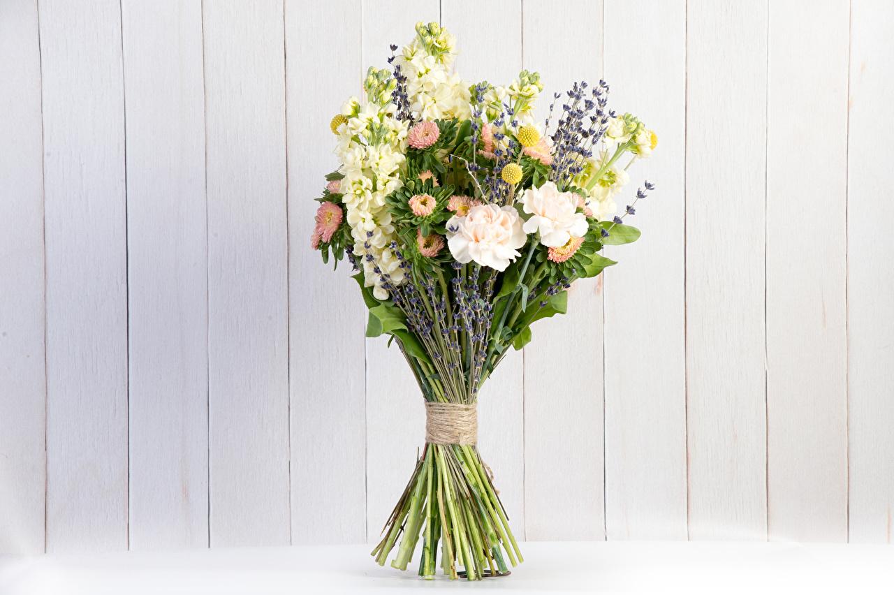 Image bouquet Asters flower Lavandula Matthiola Wall boards Bouquets Flowers lavender walls Wood planks