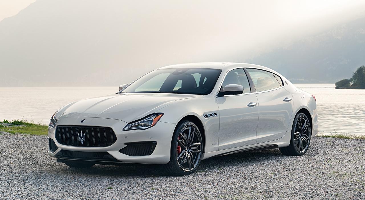 Wallpaper Maserati Quattroporte, GTS, GranSport, US-spec, 2018 Sedan White Cars Metallic auto automobile