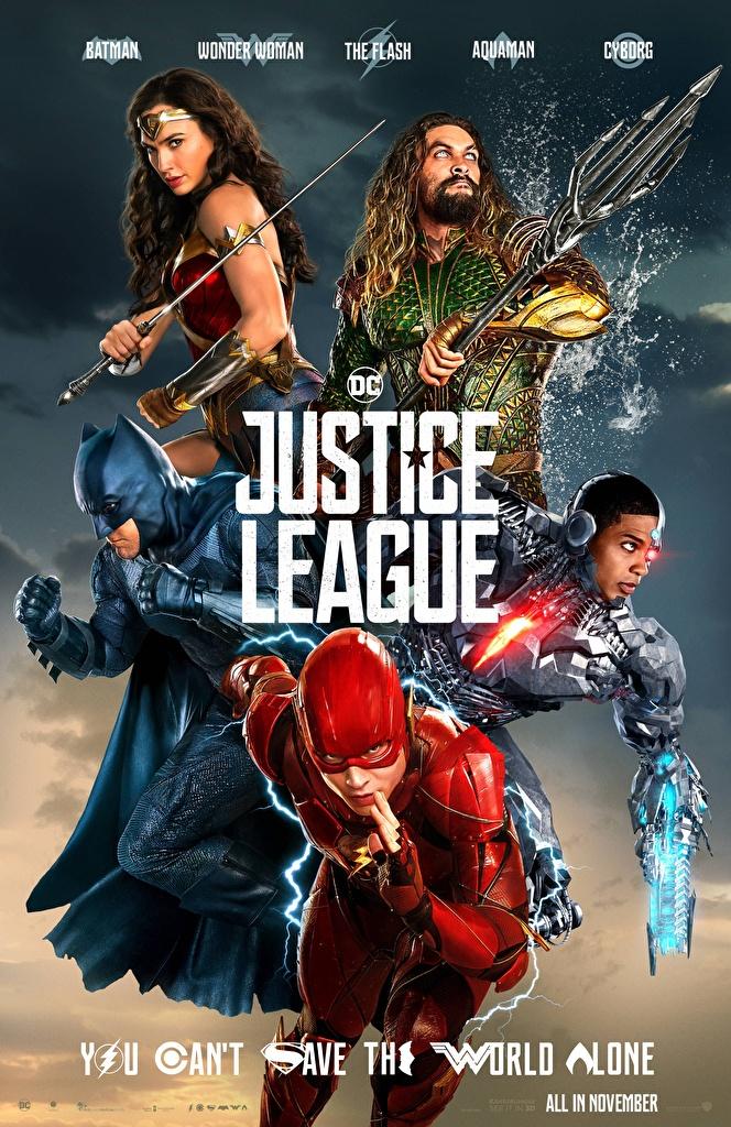 Picture Justice League 2017 Gal Gadot Batman Hero The Flash Hero