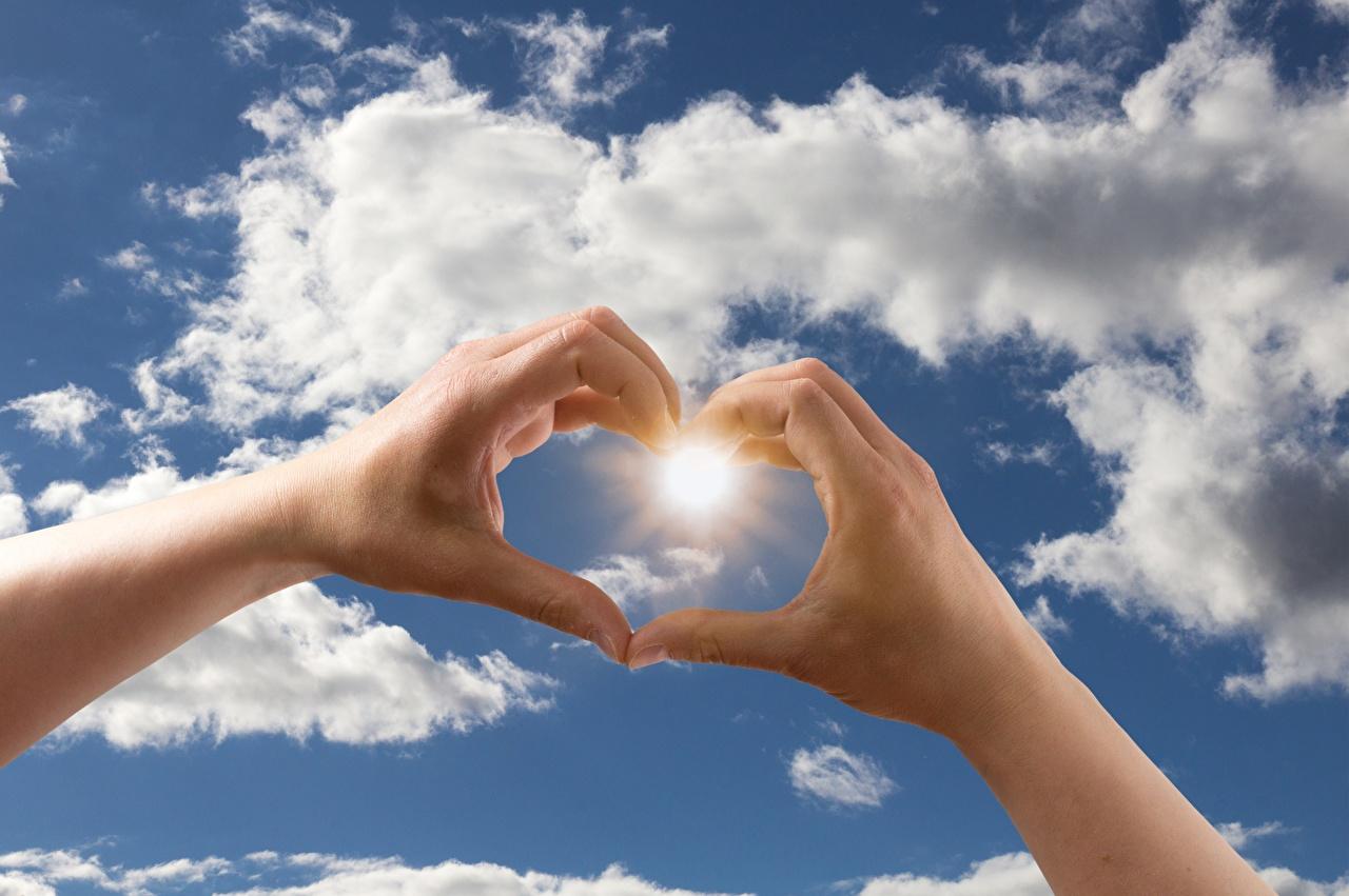 Bilder Herz Sonne Himmel Hand Finger Wolke