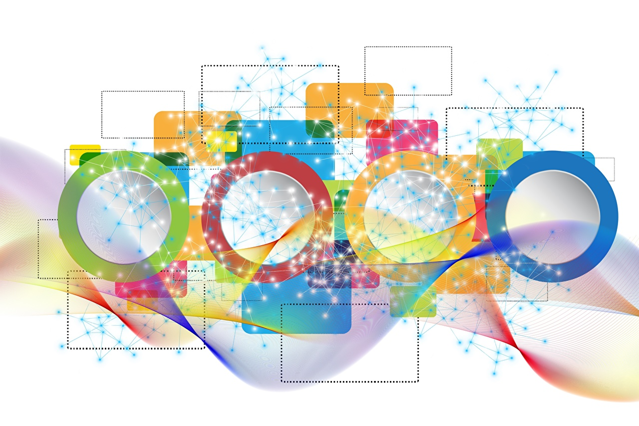 Wallpaper Circles Multicolor Vector Graphics White background circle