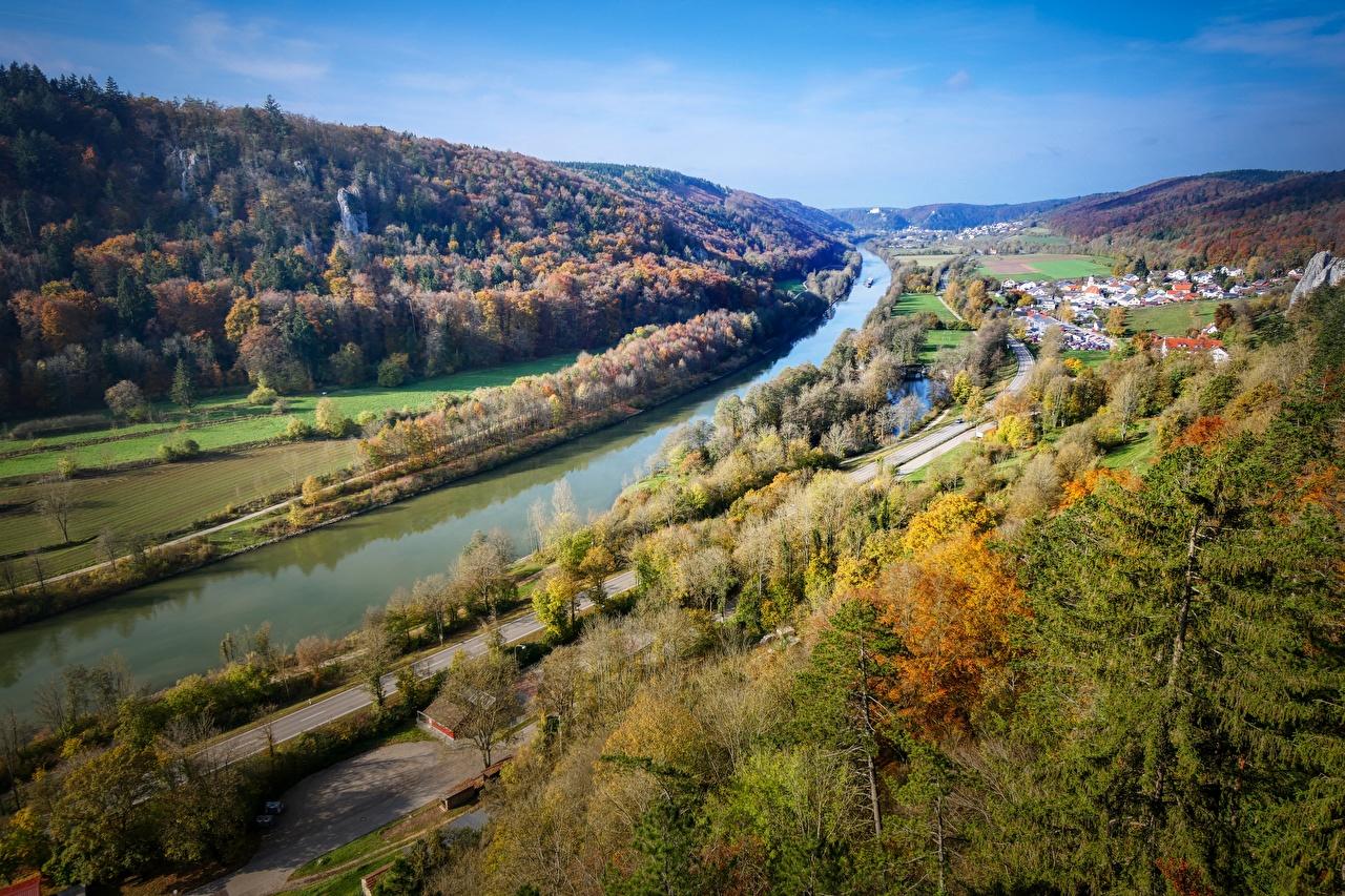 壁紙 秋 森林 ドイツ Main Danube Canal 丘 運河 バイエルン州