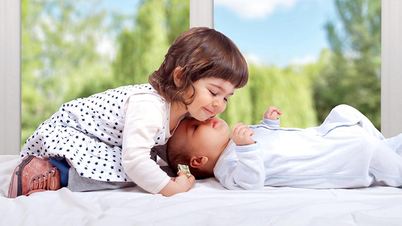 Image Little girls Infants Children 2 Dress Baby newborn child Two gown frock