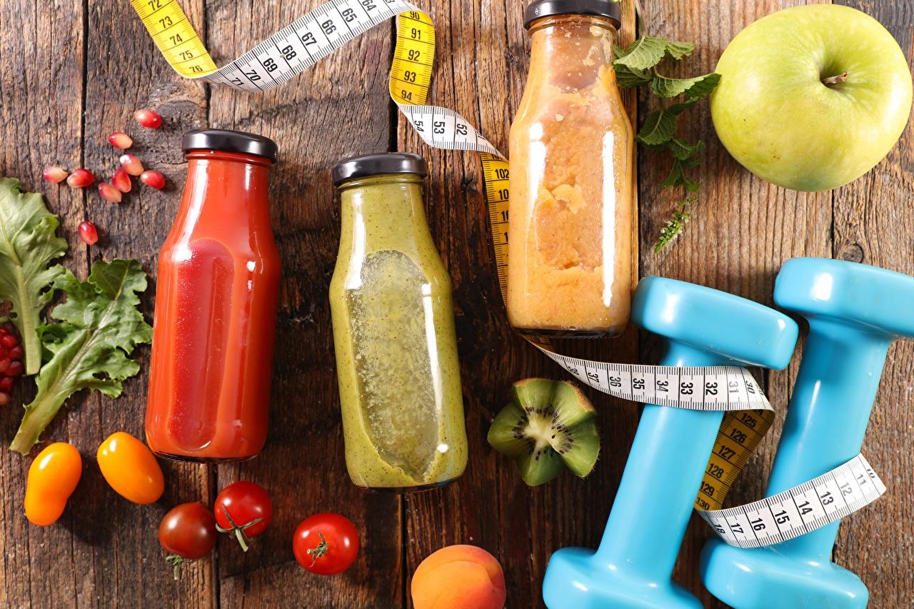 Wallpapers Fitness Tape measure Dumbbells Jar Food Drinks dumbbell