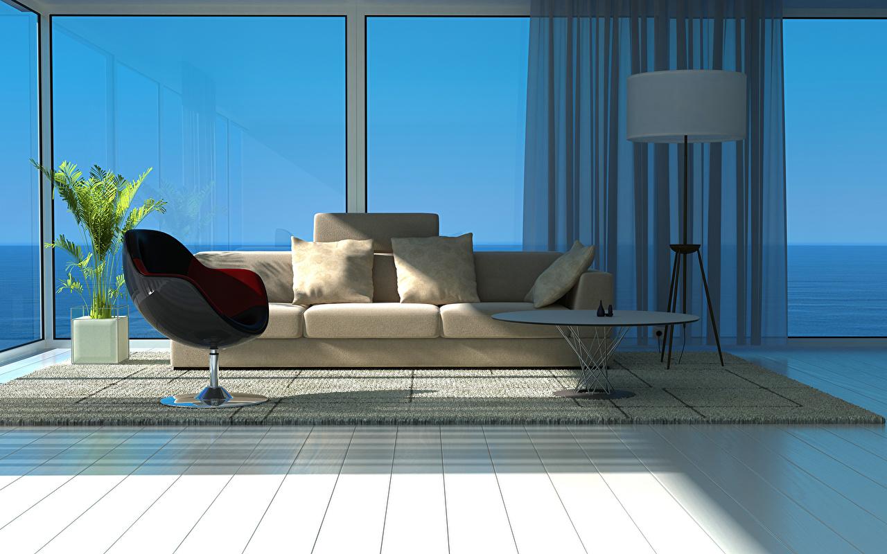 壁紙 インテリア ソファ 部屋 窓 3dグラフィックス ダウンロード