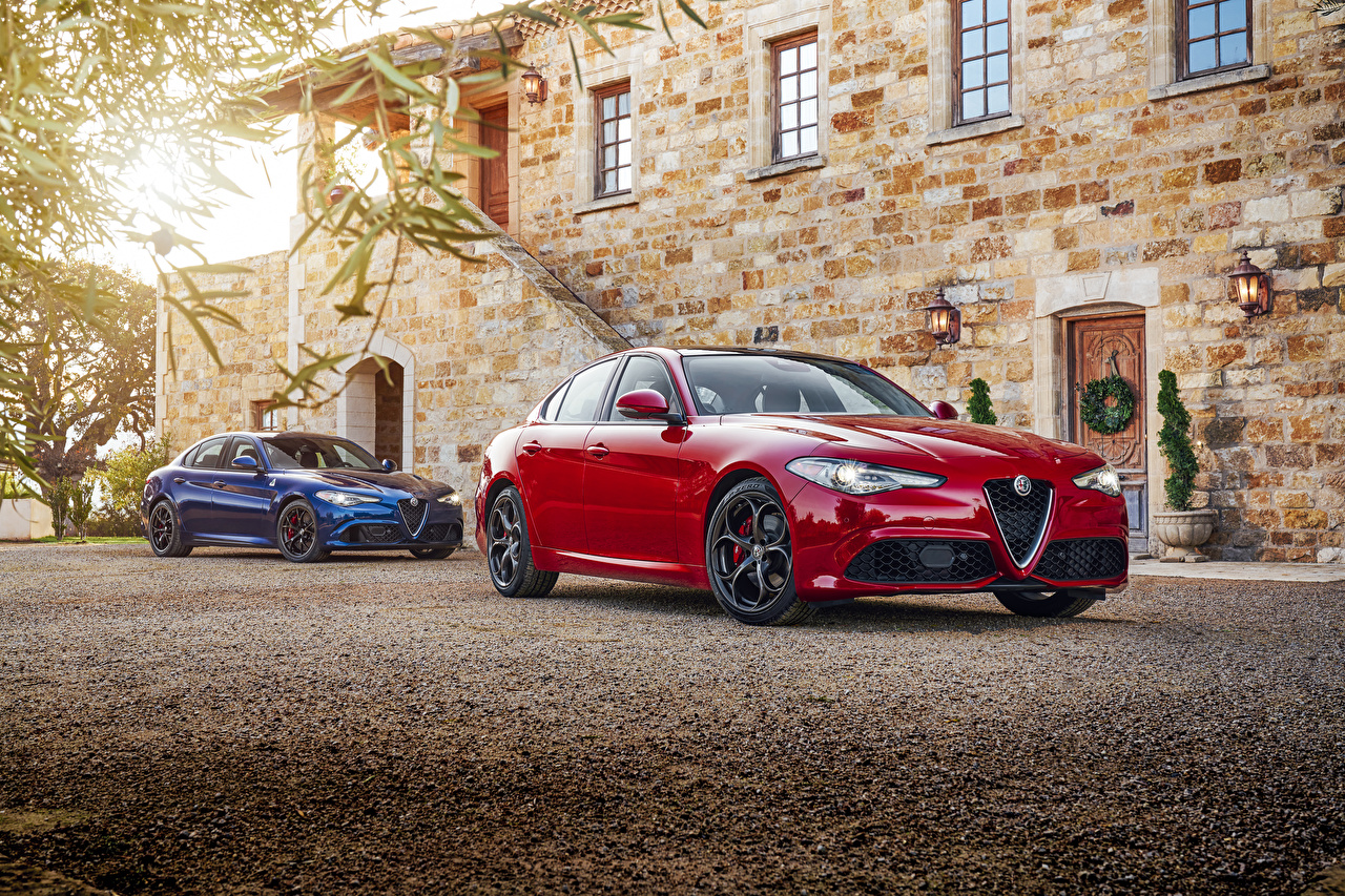 Wallpaper Alfa Romeo 2016 17 Giulia Red Cars Metallic