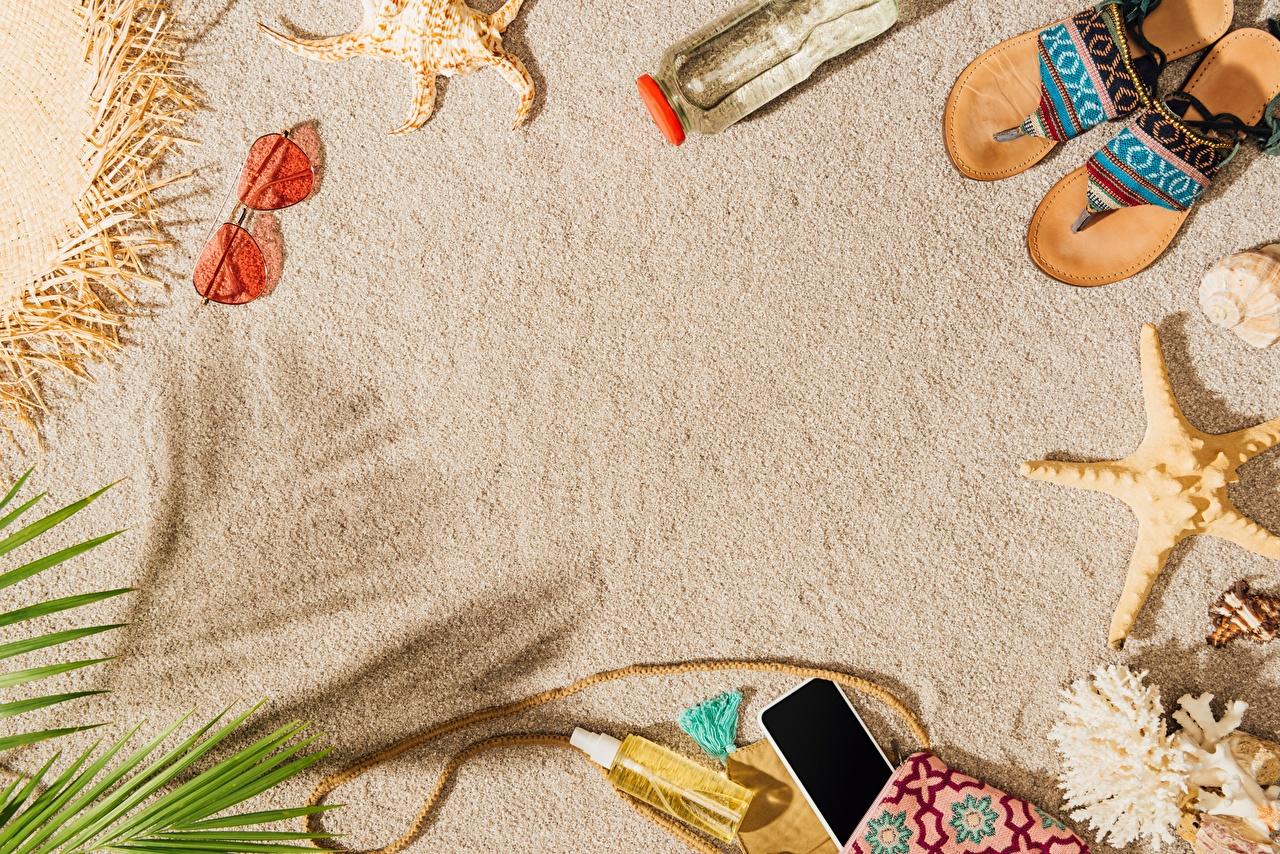 Picture Starfish Flip-flops Summer Sand Glasses Template greeting card sea stars eyeglasses