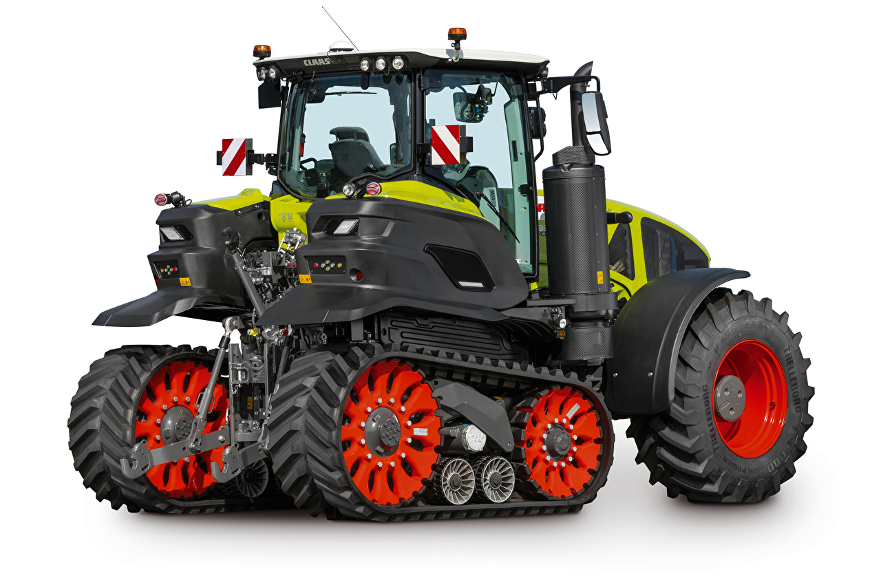 Image tractors Claas Axion 930 Terra Trac, 2019- Side White background Tractor