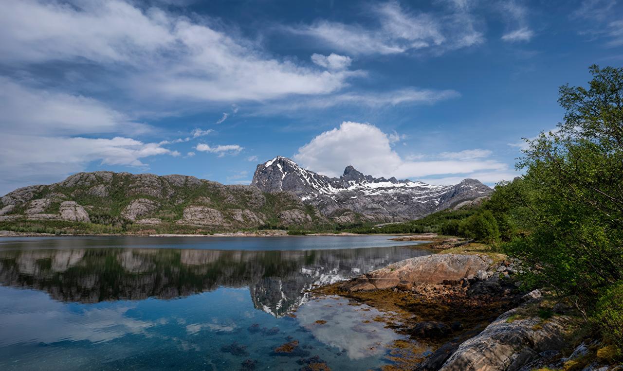 Wallpaper Norway Jektvik Crag Nature Mountains Sky Clouds Rock Cliff mountain