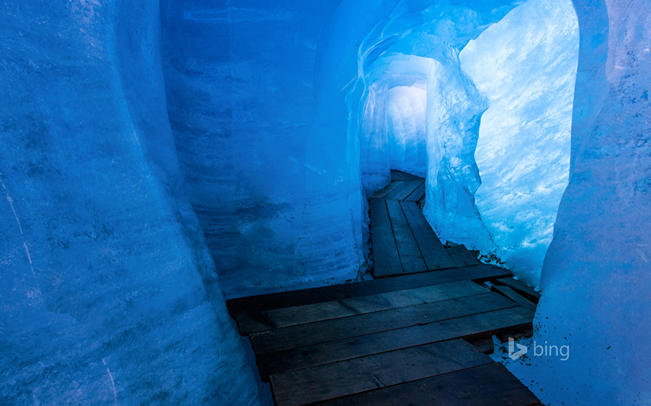 Wallpaper Switzerland Ice Cave Nature caves