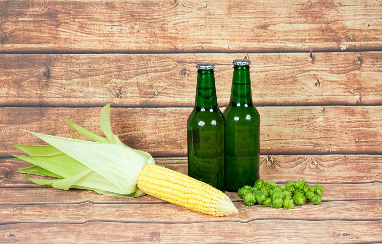 Wallpaper Corn Beer Hops Food Bottle Wood planks Humulus bottles boards