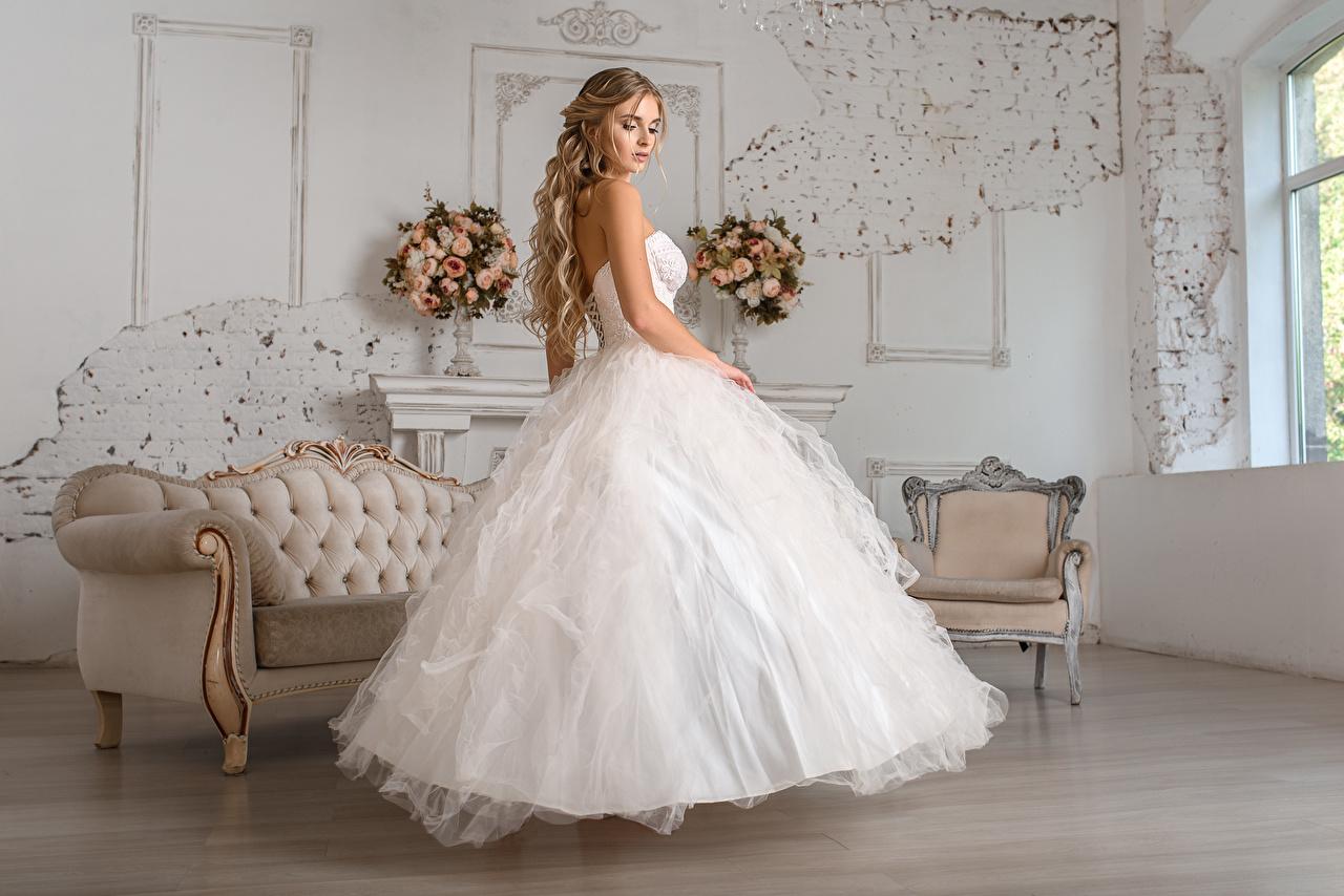 壁紙 Igor Kondukov ドレス 花嫁 髪型 美しい 少女