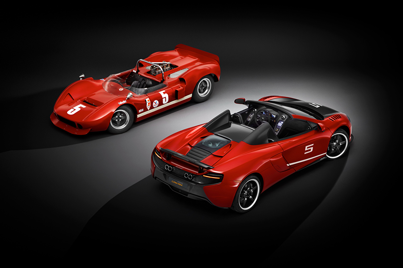 Images McLaren Red Two automobile 2 Cars auto
