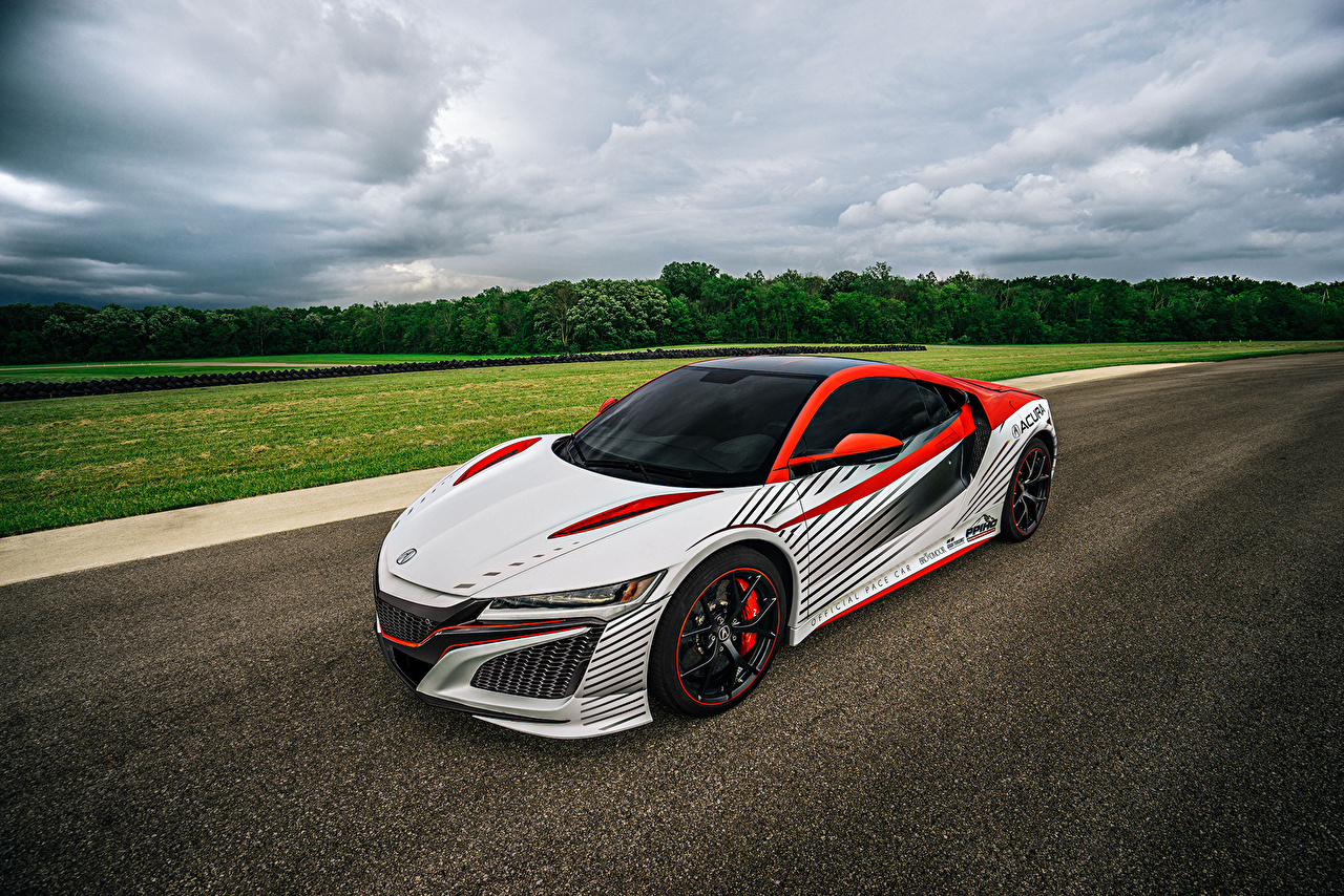 Photos Acura Tuning 2017 NSX Pikes Peak official pace car White automobile Cars auto