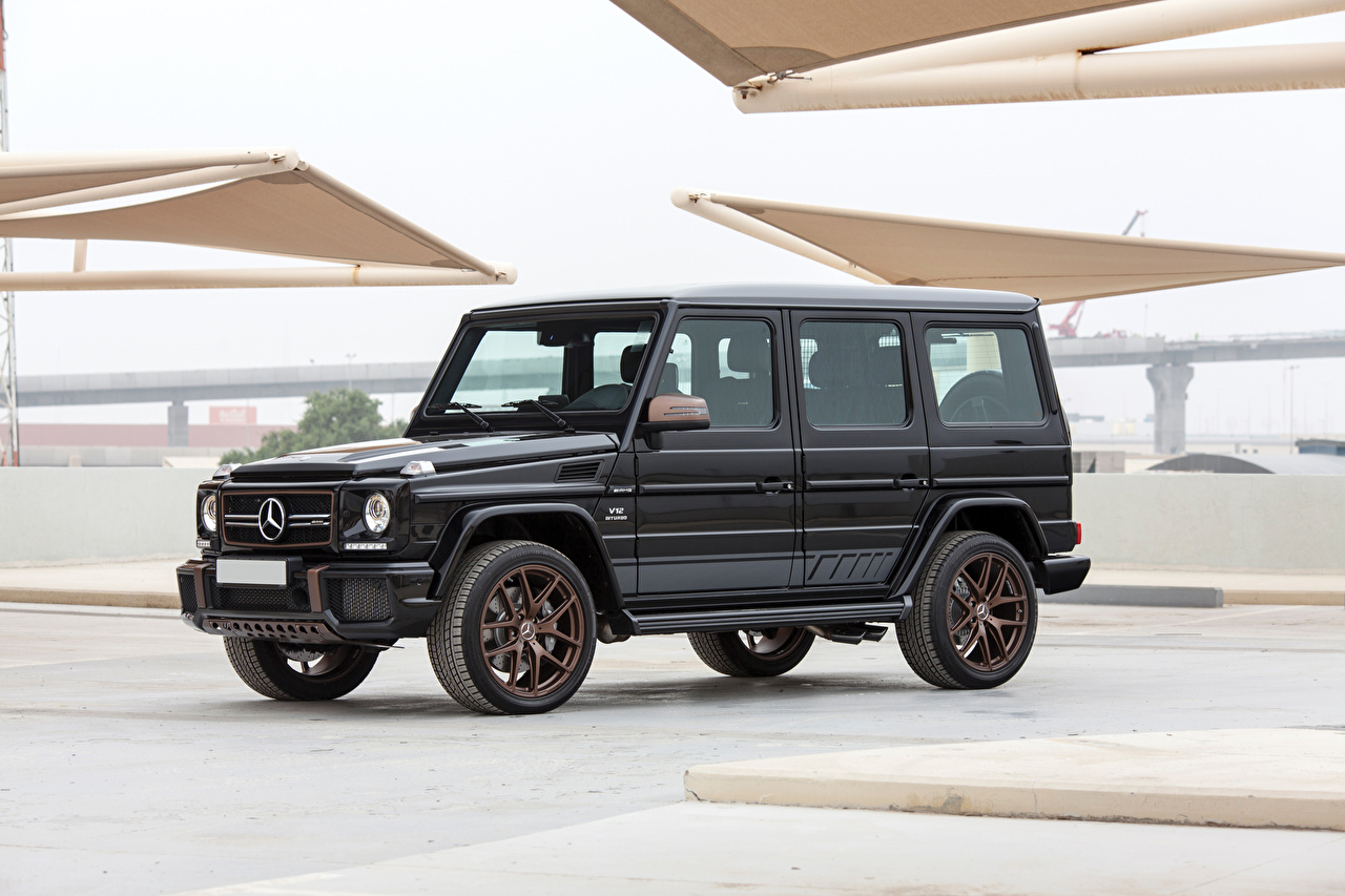 Photos Mercedes-Benz Sport utility vehicle 2018-19 AMG G 65 Final Edition Worldwide Black Cars SUV auto automobile