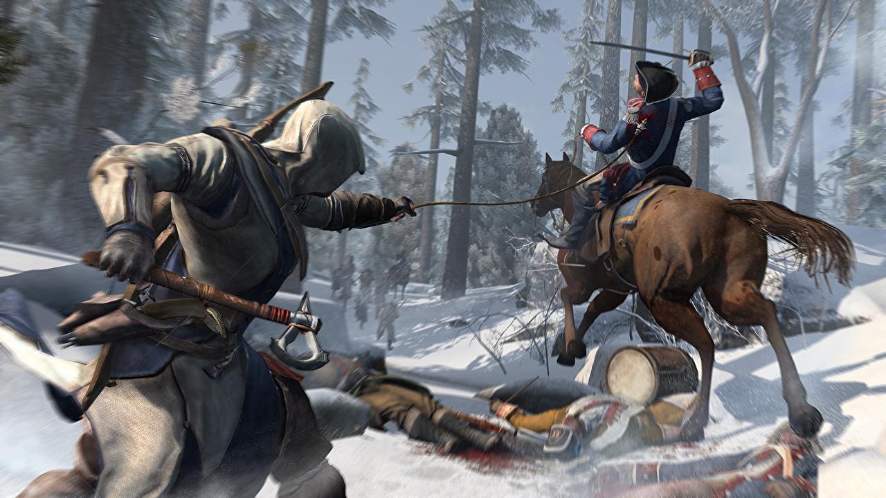 Wallpaper Assassin S Creed Assassin S Creed 3 Horse Warrior 3d