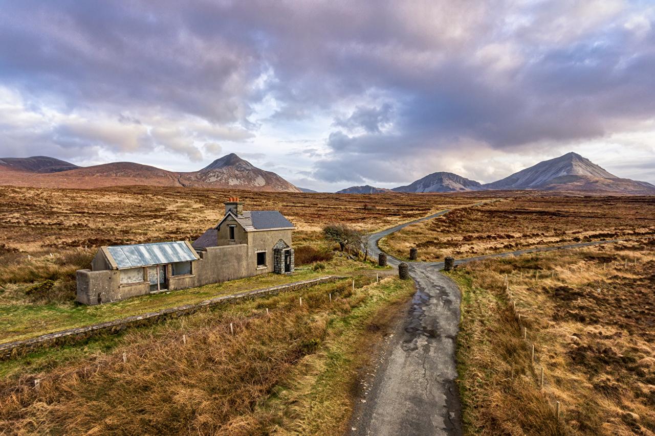 Photos Ireland Gortahork, Donegal Nature Mountains Roads mountain