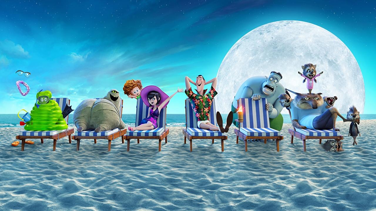 Foto Monsters Hotel Transylvania 3 Summer Vacation Strand Animationsfilm Sonnenliege Ungeheuer Zeichentrickfilm