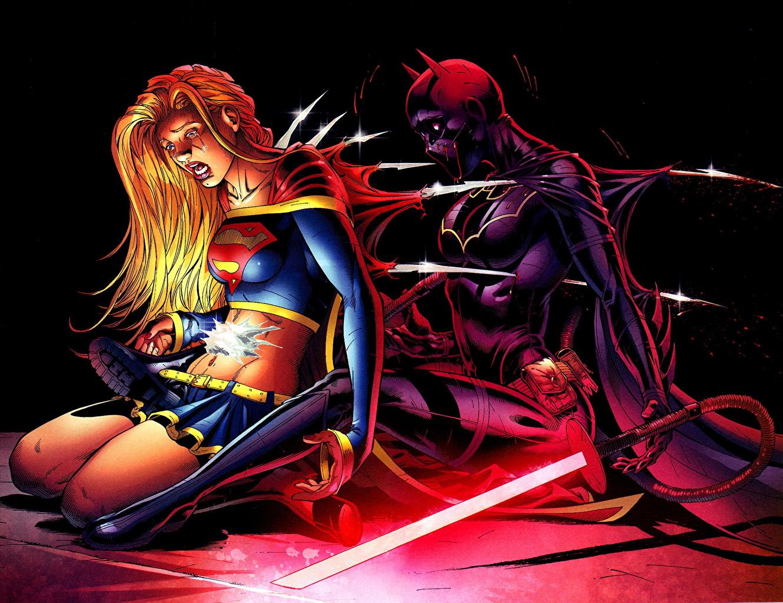 Heróis de quadrinhos Supergirl Herói Batgirl Dois jovem mulher, mulheres jovens, moça, super-heróis, 2 Fantasia Meninas