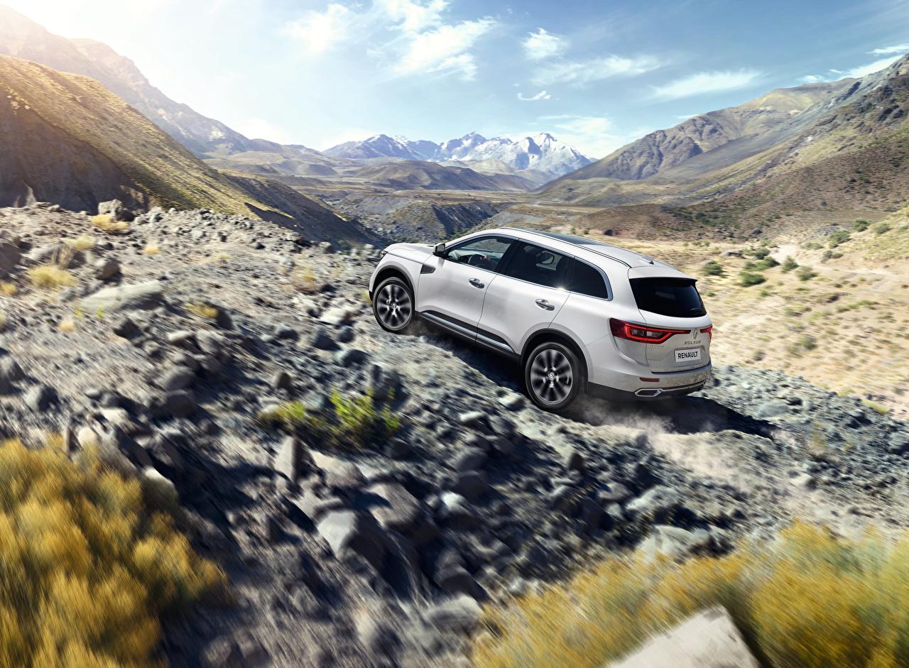 Wallpaper Renault Crossover Koleos White automobile CUV Cars auto