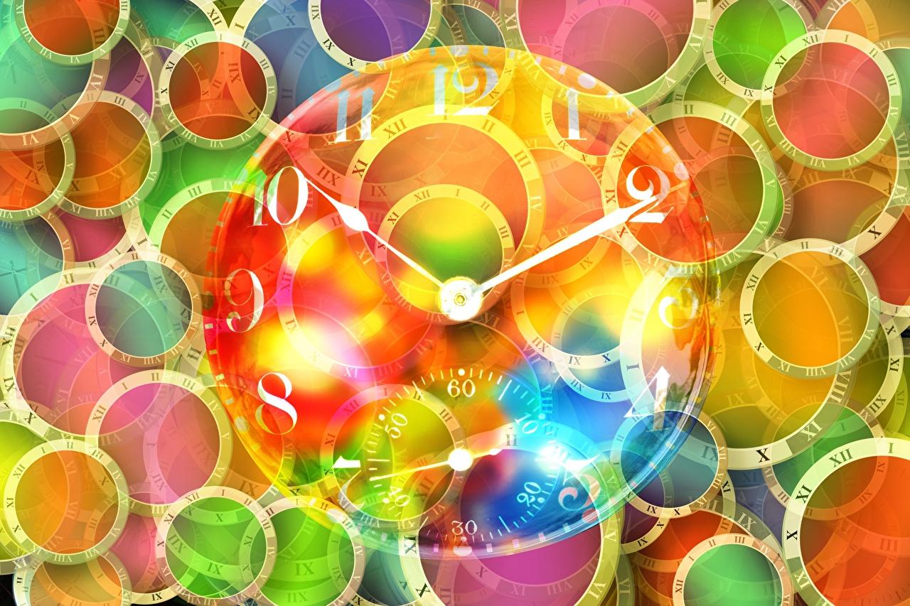 Fotos von Kreis Uhr Zifferblatt Kreise