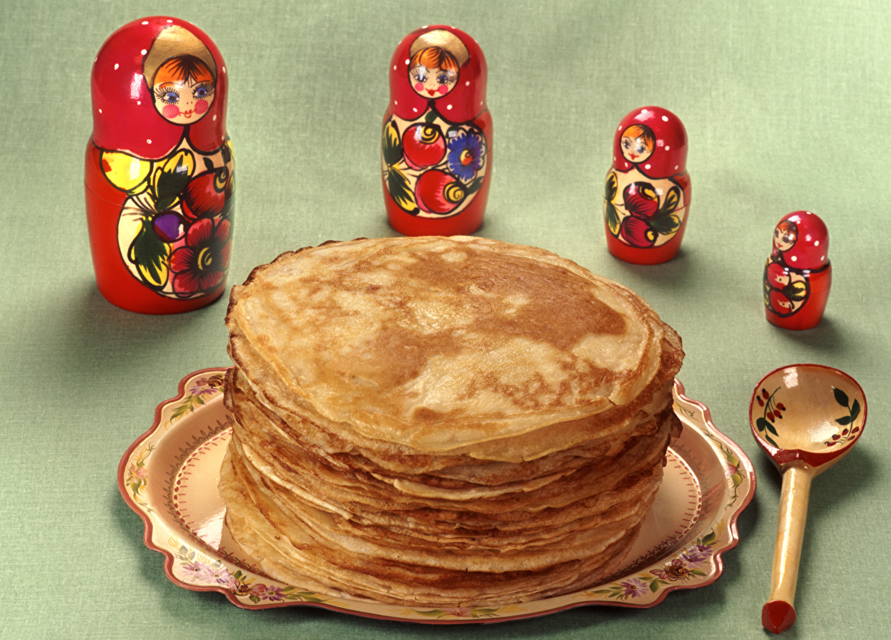 Immagini Pancake Matrioska alimento Cucchiaio frittelle matriosca Cibo