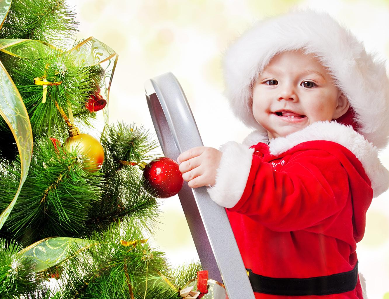 Año Nuevo Bebé Árbol de Navidad niño Niños