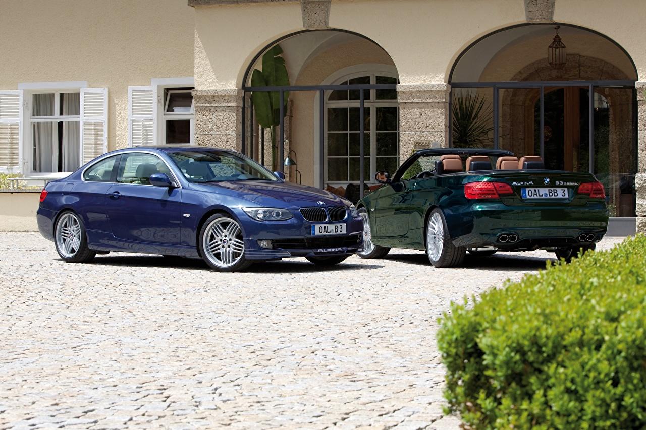 Desktop Wallpapers BMW Alpina B3 S Bi-Turbo Cabrio, Alpina B3 S Bi-Turbo Coupe Two Cars Metallic 2 auto automobile