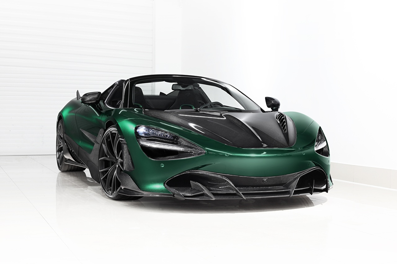 Fotos McLaren Karbon Spider, TopCar, Fury, 2020, 720S Grün Autos Metallisch Carbon Kohlefaser auto automobil
