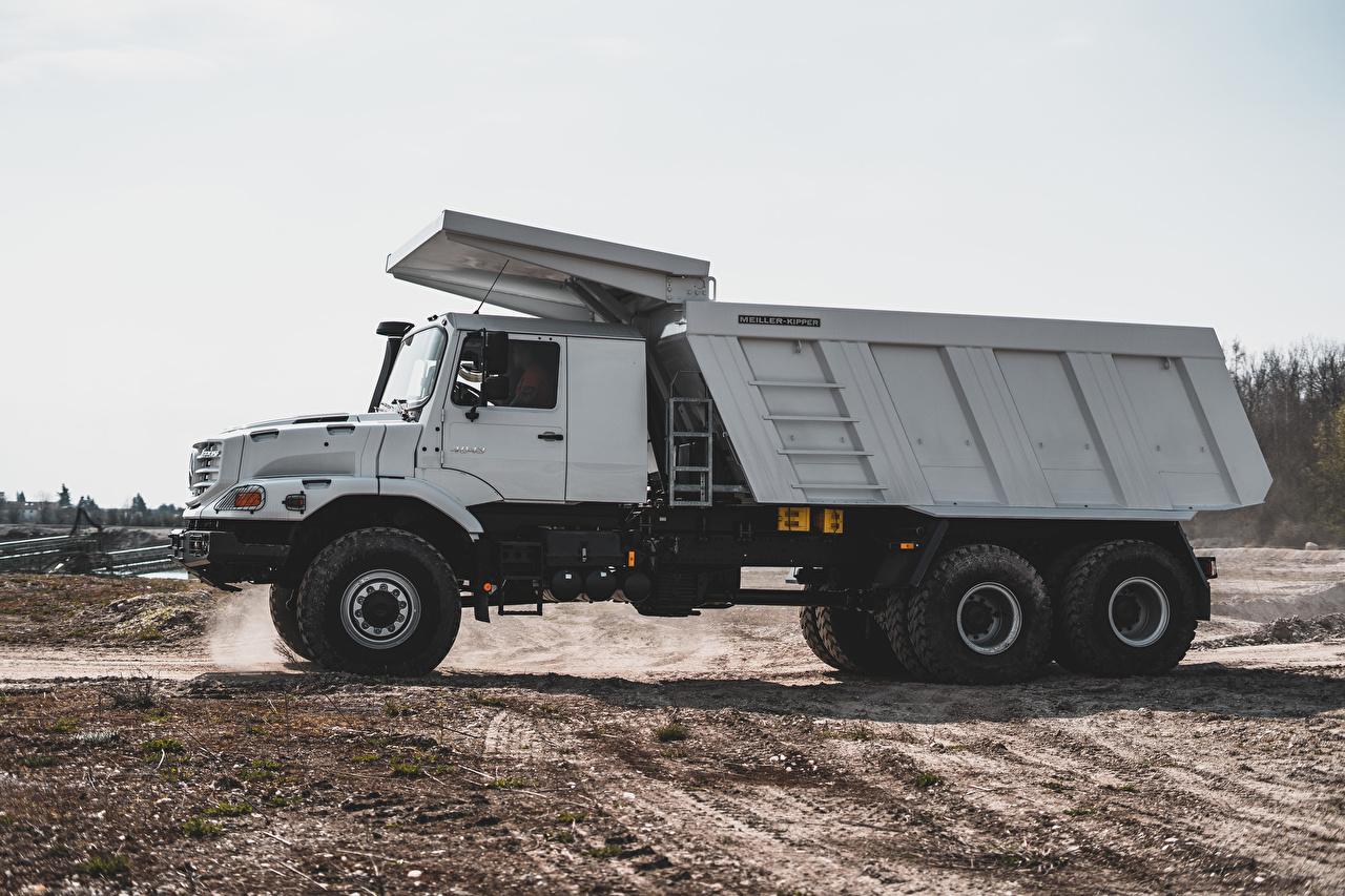 Photos lorry Mercedes-Benz 2019 Zetros 4043 A Meiller Hinterkipper Typ M325 Side automobile Trucks Cars auto