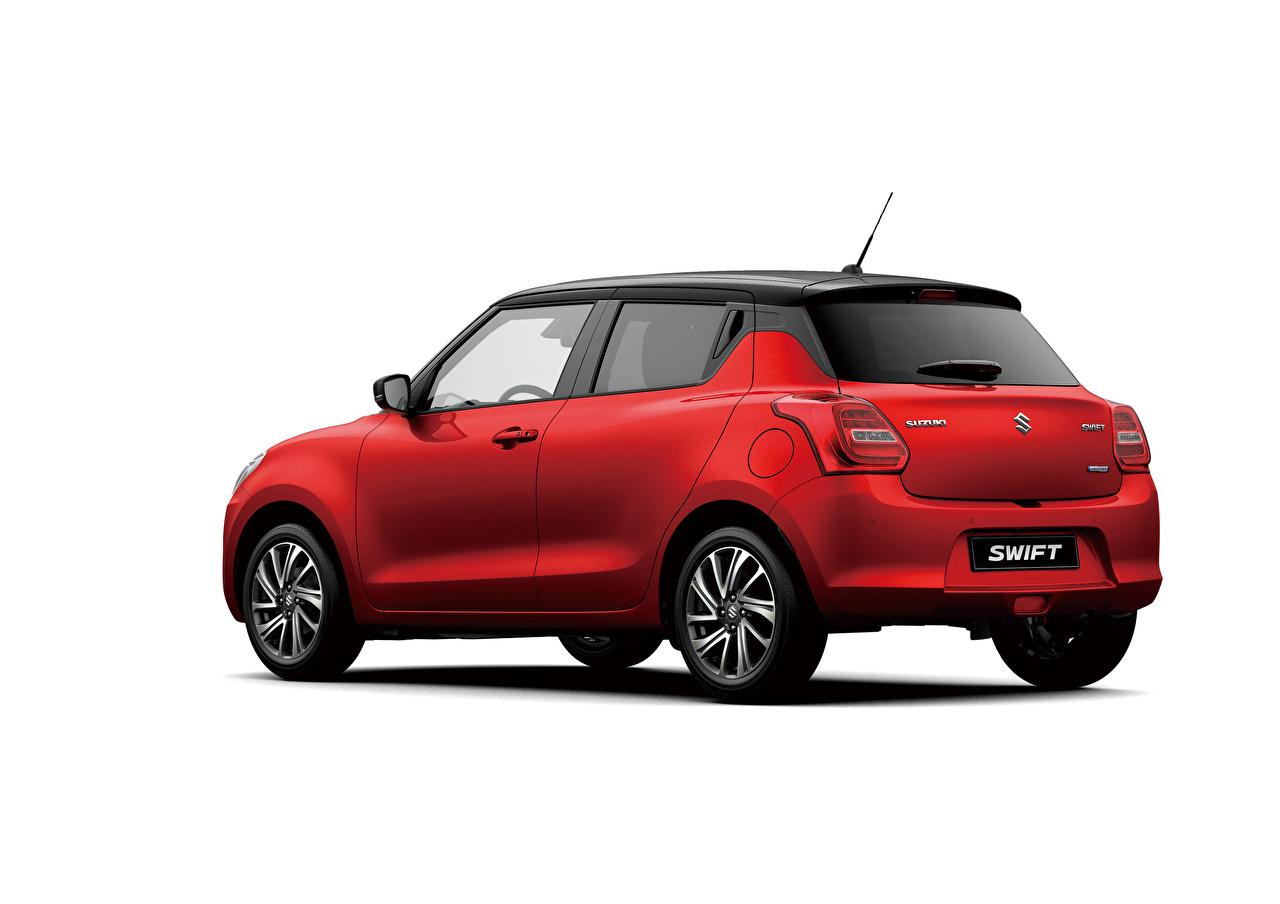 Desktop Hintergrundbilder Suzuki - Autos Swift Hybrid, 2020 Rot Autos Metallisch Weißer hintergrund auto automobil