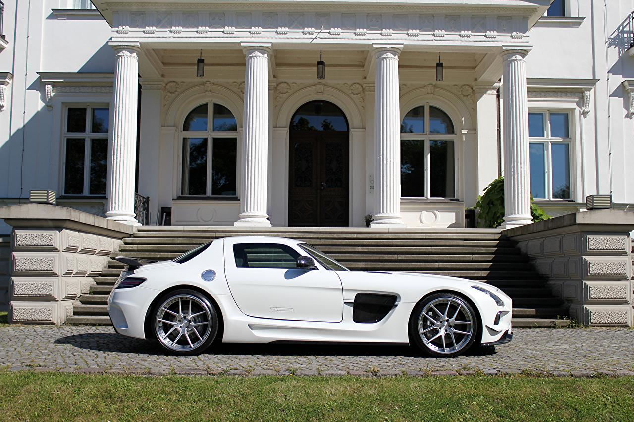 Images Tuning Mercedes-Benz 2014 SLS 63 C197 AMG  (SGA Aerodynamics) White Side Cars auto automobile